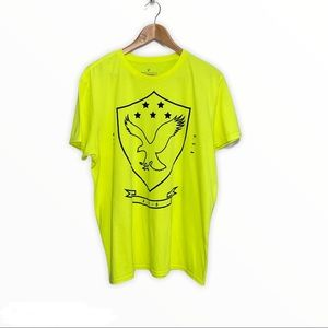 Men's American Eagle Classic Fit Neon Yellow Tee